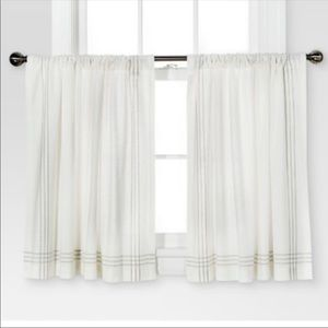 Set of 2 Threshold from Target curtain tiers.